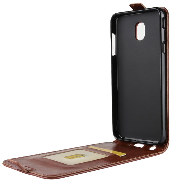 HUDOSSEN For Samsung Galaxy J3 2018 SM-J377a Case Luxury Flip Leather Back Cover Phone Accessories Bags Coque For Galaxy J3 2018