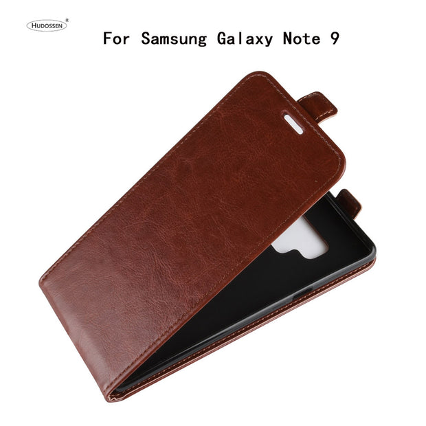 HUDOSSEN For Samsung Galaxy Note9 Case Luxury Flip Leather Back Cover Phone Accessories Bags Skin Coque For Galaxy Note 9 N960