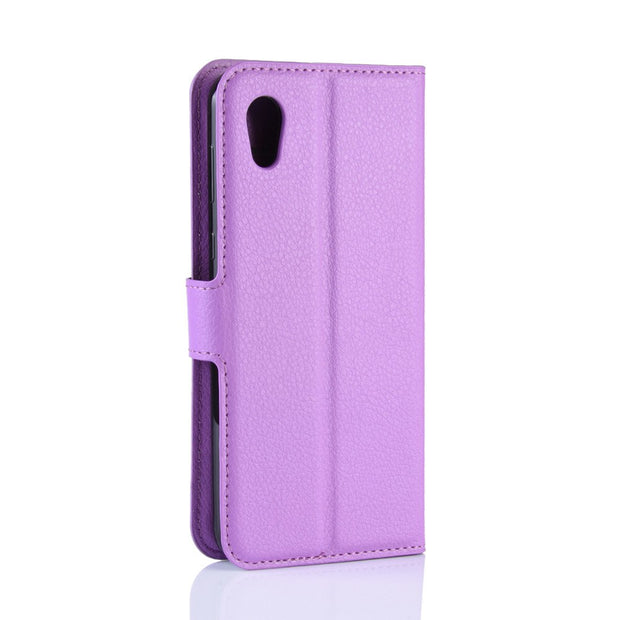 HUDOSSEN For Sharp Sense2 SH-01L SHV43 Case Luxury Flip Leather Back Cover Phone Accessories Bags Skin For Sharp SHV43 Case