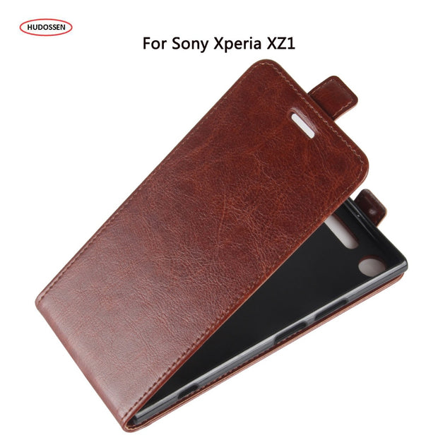 HUDOSSEN For Sony Xperia XZ1 F8342 Luxury Flip Case PU Leather Back Cover Coque For Sony XZ1 Protective Phone Housing Carcasa
