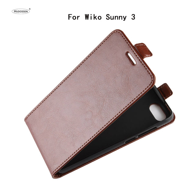 HUDOSSEN For Wiko Sunny 3 Phone Case Luxury Vertical Flip PU Leather Cover Coque For Wiko Sunny 3 Sunny3 Protective Case Para