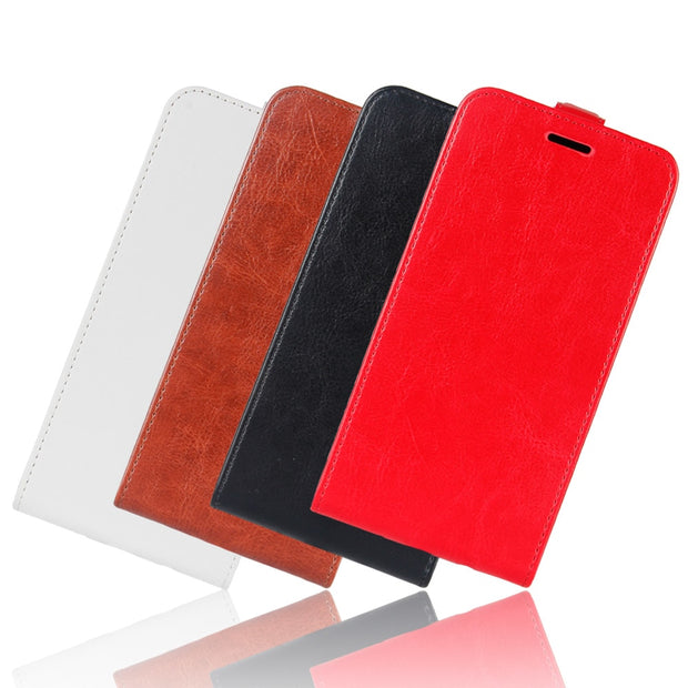 HUDOSSEN For Wiko View Go Case Luxury Flip Leather Back Cover Phone Accessories Bags Skin Coque For Wiko View Go Case