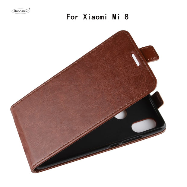 HUDOSSEN For Xiaomi Mi 8 Case Luxury Flip Leather Back Cover Phone Accessories Bags Skin Coque For Xiaomi Mi8 Protective Case