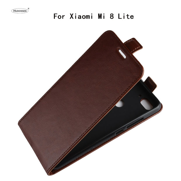 HUDOSSEN For Xiaomi Mi 8 Lite Case Luxury Flip Leather Back Cover Phone Accessories Bag For Mi8 Youth Mi 8X Protective Case
