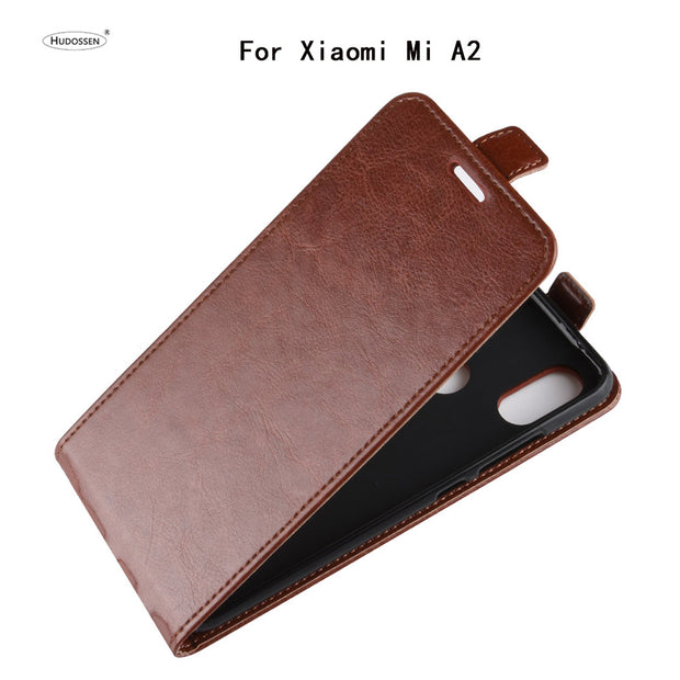 HUDOSSEN For Xiaomi Mi A2 M1804D2ST Case Luxury Flip Leather Back Cover Phone Accessories Bags Skin For Xiaomi Mi A2 6X Case