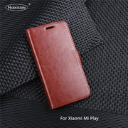 HUDOSSEN For Xiaomi Mi Play Case Luxury Flip Leather Back Cover Phone Accessories Bags Skin For Xiaomi Mi Play Case
