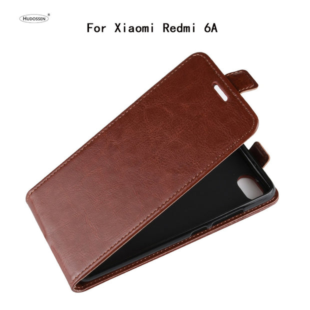 HUDOSSEN For Xiaomi Redmi 6A Case Luxury Flip PU Leather Silicone Phone Back Cover Cases For Xiaomi Redmi 6A Accessories Coque