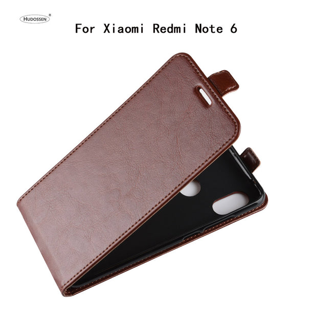 HUDOSSEN For Xiaomi Redmi Note 6 Case Luxury Flip Leather Back Cover Phone Accessories Bags Skin Cases Fundas For Redmi Note 6