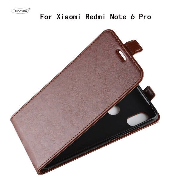 HUDOSSEN For Xiaomi Redmi Note 6 Pro Phone Case Luxury Vertical Flip PU Leather Cover For Redmi Note 6 Pro Protective Case Para