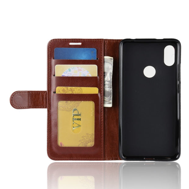 HUDOSSEN For Xiaomi Redmi S2 M1803E6C Case Luxury Flip Leather Back Cover Phone Accessories Bags Skin For Xiaomi Redmi S2 Case