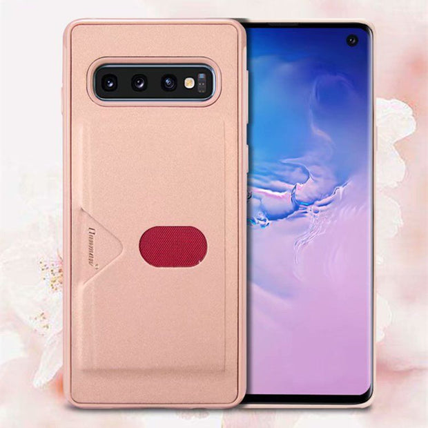 Hanman Soft TPU Case For Samsung Galaxy S10 S10 Plus Cover With Card Slot Holder For Samsung Galaxy S10 E Phone Case S10e S10Pls