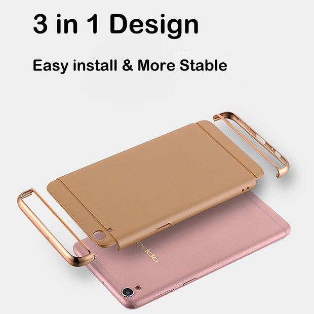 Hard PC Back Cover Case For OPPO R9 Case Luxury3 In 1 360 Degree Protection Anti-knock Ultra Thin Slim For OPPO R9 Plus Women