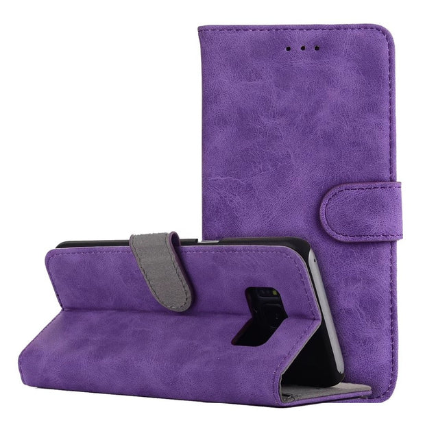 Hazy Beauty For Samsung Galaxy S8 Plus Case Luxury Purple Vintage Flip Wallet Leather Cover For Samsung Galaxy S8 Cases Cover