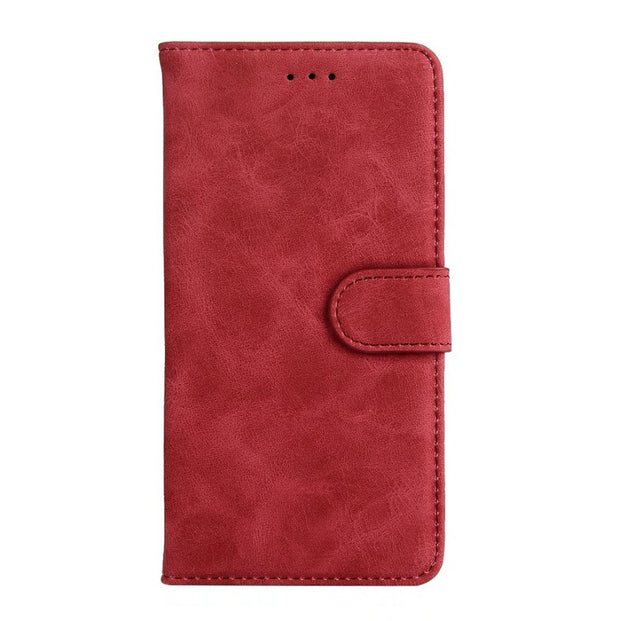 Hazy Beauty For Samsung Galaxy S8 Plus Case Luxury Red Matte Vintage Flip Wallet Leather Cover For Samsung Galaxy S8 Cases Cover