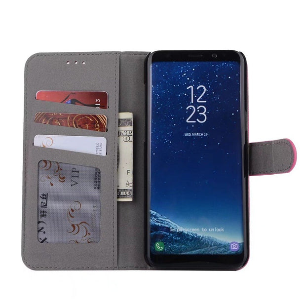 Hazy Beauty For Samsung Galaxy S8 Plus Case Luxury Vintage Flip Wallet Leather Matte Cover For Samsung Galaxy S8 Cases Cover