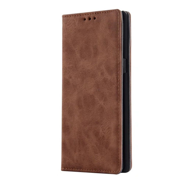Hazy Beauty For Samsung Galaxy Note8 Case Luxury Matte Flip Leather Wallet Brown Case Cover For Samsung Galaxy Note8 Case Cover