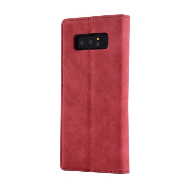 Hazy Beauty For Samsung Galaxy Note8 Case Luxury Red Flower Flip Leather Wallet Case Cover For Samsung Galaxy Note8 Case Cover