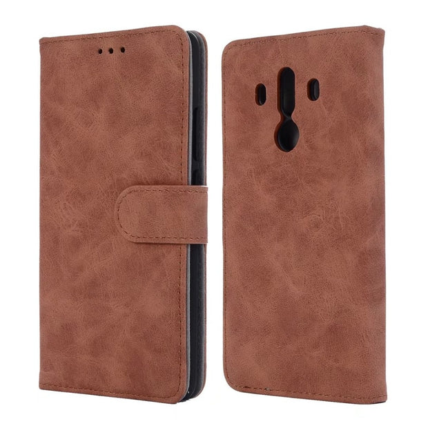 Hazy Beauty For Huawei Mate10 Pro Case Luxury Leather Brown Vintage Patterned Flip Wallet Cases For Huawei Mate10 Back Cover