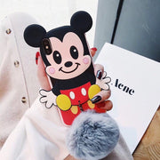Hazy Beauty For IPhone 6 6S 7 8 Plus Case Cartoon Mickey Silicone Leather Soft Phone Case For IPhone X XS XR XS MAX Back Cover