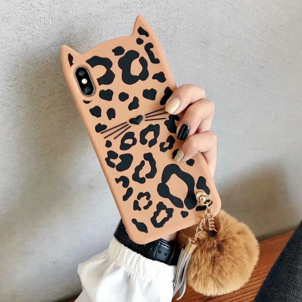 Hazy Beauty For IPhone X XS XR XS MAX Case Cartoon Leopard Grain Silicone Soft Cases For Iphone X 6S 6 7plus 8 8plus Back Cover