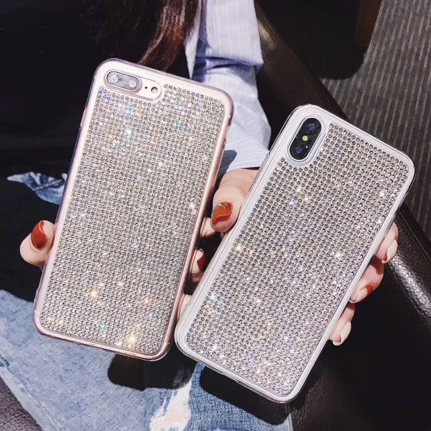 Hazy Beauty For Iphone 7 Case Luxury Jewelled Transparent Silicone Cases For IPhone X XS XR XS Max 6 6S 7 8 Plus Case Back Cover