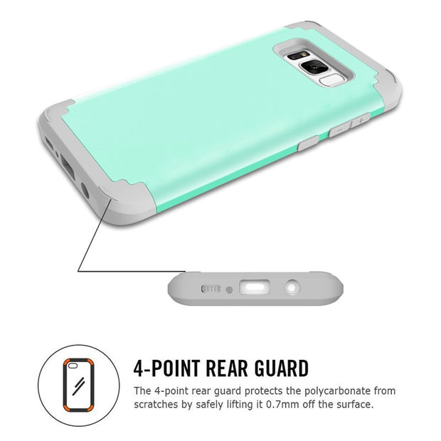 Heavy Duty Hybrid Case For Samsung Galaxy S8 S8Plus Shockproof Armor Rugged Case Cover Hard PC + Soft Rubber Silicone Phone Case