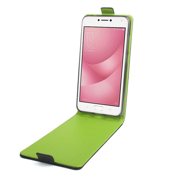 High Quality Green Bottom Original For ASUS Zenfone 4 Max ZC554KL Case Leather Flip ASUS ZC554KL Cover Phone Shell Funda Bags