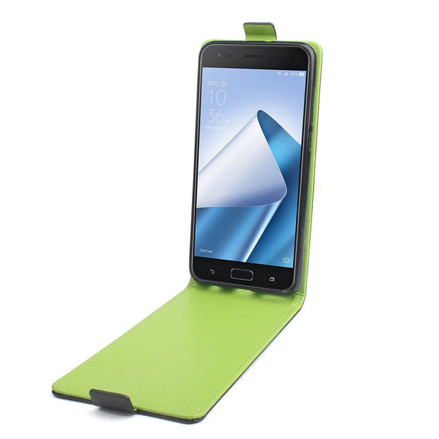 High Quality Green Bottom Original For ASUS Zenfone 4 ZE554KL Case Leather Flip For ASUS 4 ZE554KL Cover Phone Shell Funda Bags