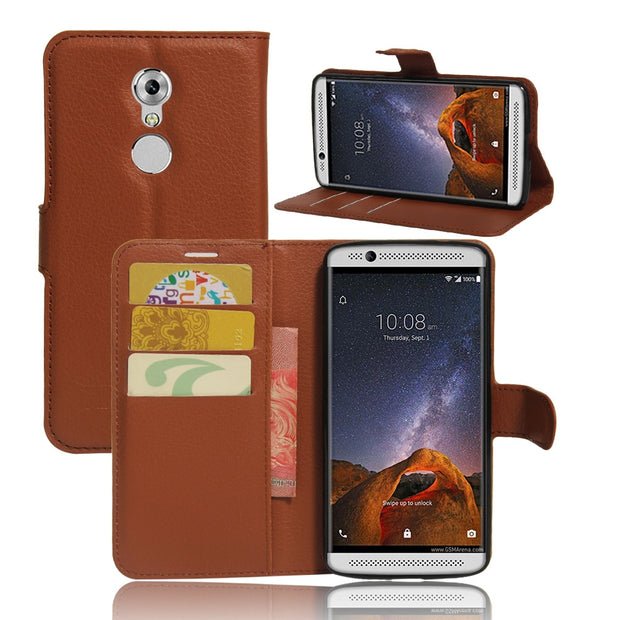High Quality PU Leather Case For ZTE Axon 7 A2017 / Axon7 Mini Mobile Phone Holster With Card Slot Housing Shell Bag Protector