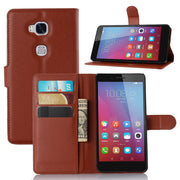 High Quality PU Leather For Huawei Honor 5x GR5 Case Wallet Stand Flip Cover Honor 5 X GR5 With Card Holder Phone Shell Bag