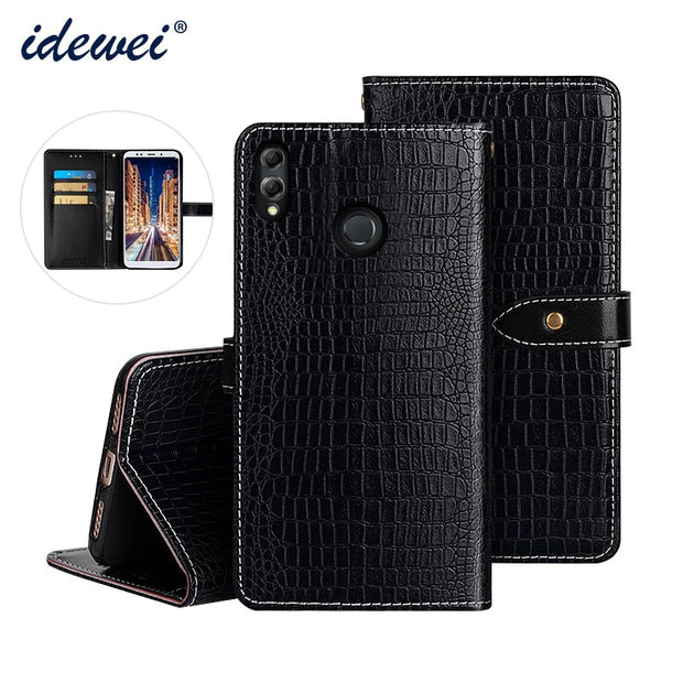 Honor 8X Max Luxury Leather Case Cover Flip Case For Honor 8X Max Phone Crocodile Grain Case
