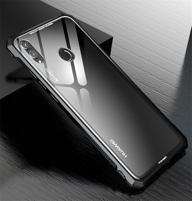 Honor 8x Case Metal Bumper Screw Protective Phone Case On