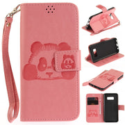 Hot Selling For Samsung S8 Plus 6inch Wallet PU Leather Case For Samsung Galaxy S8 Phone Bag High Quality 3D Embossed Panda Case