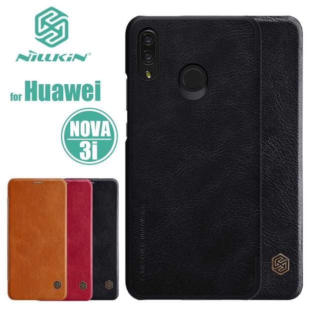 Huawei Nova 3i Case Nillkin Qin Series Flip Leather Case Luxury With Card Slot Phone Case For Huawei P Smart Plus Nilkin Cover