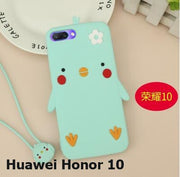 Huawei Honor 10 Case Silicone ,3D Cartoon Cute Silicon Tpu With Lanyard Cover Case For Huawei Honor 10 Cover With Tracking Code