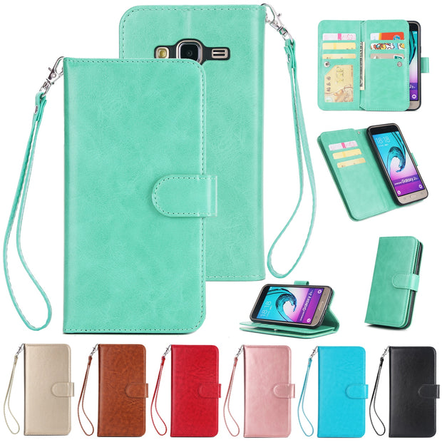 Hxairt Luxury Wallet Case For Samsung Galaxy J310 J330 J530 Case Cover Flip Leather Phone Case Samsung J730 Mobile Phone Shell