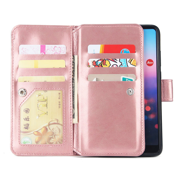 Hxairt Wallet Case For HUAWEI P20 P20Lite Flip Coque Leather With Stand Phone Bag Case Cover For Huawei P10 P10Lite Cases