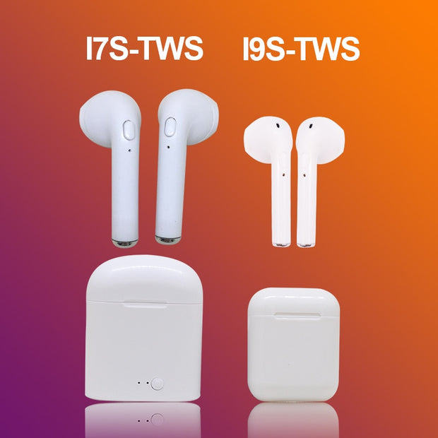 I9s Tws Bluetooth Wireless Earphones Earbuds Mini In-Ear Air Pods I7S Headphones Earpiece With Mic For Iphone Xiaomi Samsung
