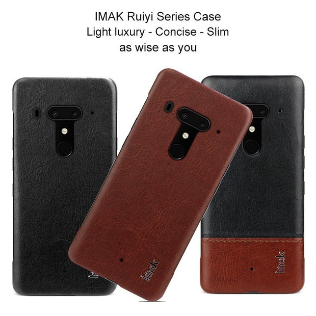 IMAK Brand Case For HTC U12 Plus Cases Ruiyi Series Light Luxury PU Leather Ultra-Slim Phone Cover For HTC U12+