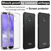 IMAK Brand Case For Motorola MOTO Z3 Play Cases Shockproof Air-Bag Soft TPU Back Phone Cover, With Soft Explosion-Proof Film