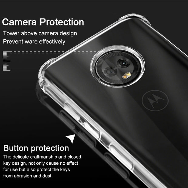 IMAK Brand For Motorola MOTO G6 Plus Case Airbag Stealth Silicone Soft TPU Back Cases For MOTO G6 Plus, + Gift Screen Protector
