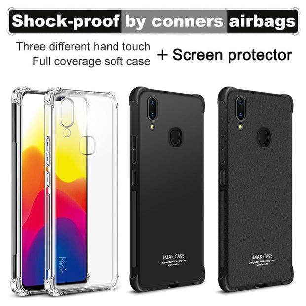 IMAK Brand For VIVO X21 Case Shockproof Air-Bag Series Soft TPU Back Case Cover For VIVO X21, With Soft Explosion-Proof Film