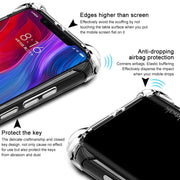 IMAK Brand For Xiaomi Mi 8 Case Shockproof Air-Bag Series Soft TPU Back Cases For Xiaomi Mi8 6.21 Inch, With Gift Screen Film