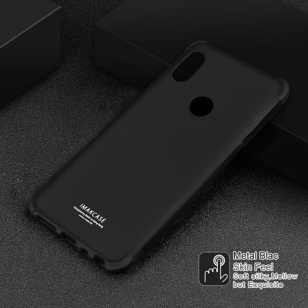 IMAK Brand For Xiaomi Redmi Note 5 Pro Case Shockproof Air-Bag Series Soft TPU Back Cover, With Gift Soft Explosion-Proof Film