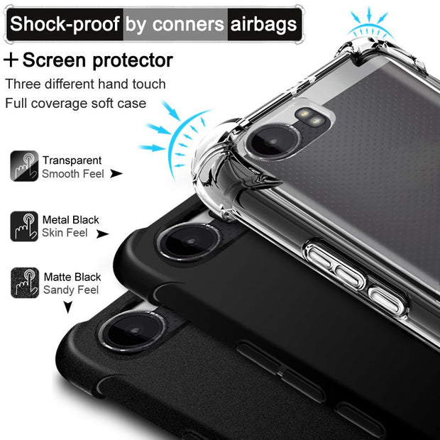 IMAK Brand For Xperia XZ2 Compact Case Shockproof Air-Bag TPU Back Case For Sony Xperia XZ2 Compact, +Soft Explosion-Proof Film