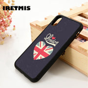 Iretmis 5 5S SE 6 6S Silicon Rubber Phone Case Cover For IPhone 7 8 Plus X Xs Max XR United Kingdom Flag Uk British London Heart
