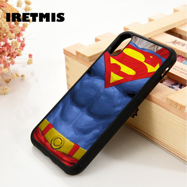 Iretmis 5 5S SE 6 6S Silicone Phone Case Cover For IPhone 7 8 Plus X Xs Max XR Superman DC Comics Man Of Steel Justice League