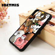 Iretmis 5 5S SE 6 6S Silicone Phone Case Cover For IPhone 7 8 Plus X Xs Max XR Farm Animals Funny Cartoon Pig Sheep Horse Fox