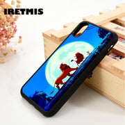 Iretmis 5 5S SE 6 6S Silicone Phone Case Cover For IPhone 7 8 Plus X Xs Max XR The Lion King Hakuna Matata Simba, Timon & Pumbaa
