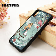 Iretmis 5 5S SE 6 6S Soft TPU Silicone Rubber Phone Case Cover For IPhone 7 8 Plus X Xs Max XR Alice In Wonderland Blue